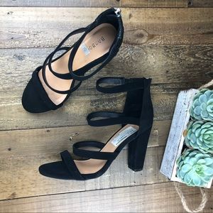 Strappy Bamboo Heels